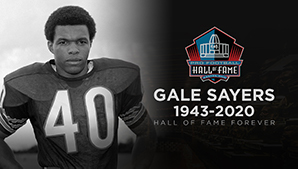 NFL Gale Sayers Dies with Dementia at Age 77