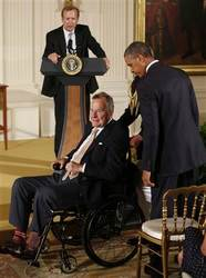 President George HW Bush Doing Better After Fall