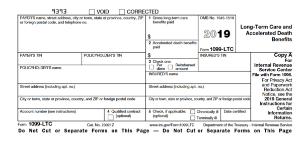 IRS Form 1099-LTC