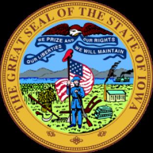 Iowa state emblem