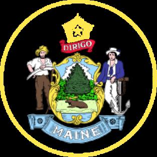 Maine state emblem